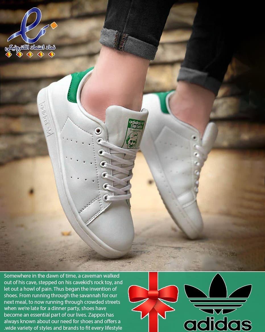کفش دخترانه سفیدسبز سایز 37 38 39 40 - کفش تعطیلات