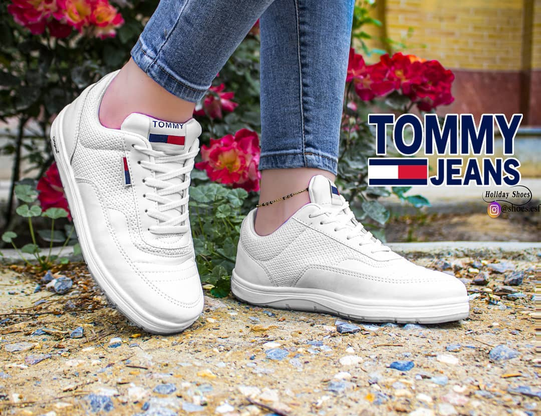 کفش اسپرت سفید دخترانه - کفش تعطیلات