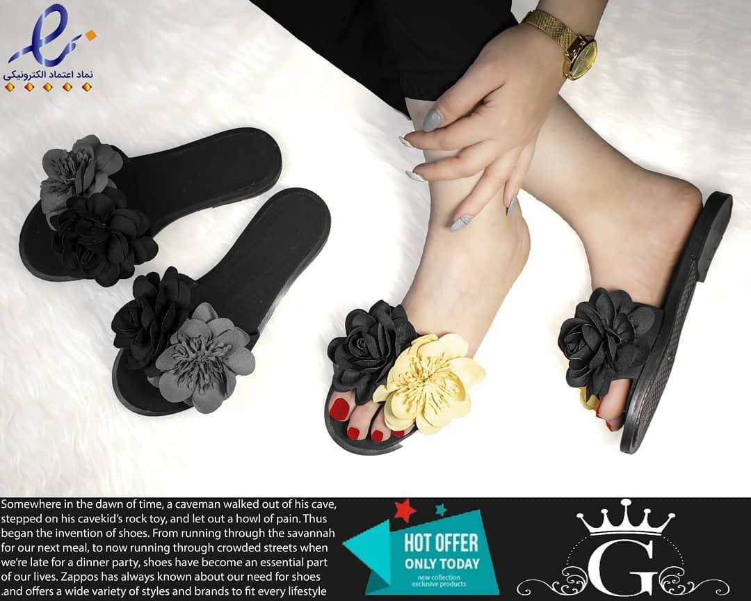 عکس دمپایی دخترانه گلابتون - کفش تعطیلات